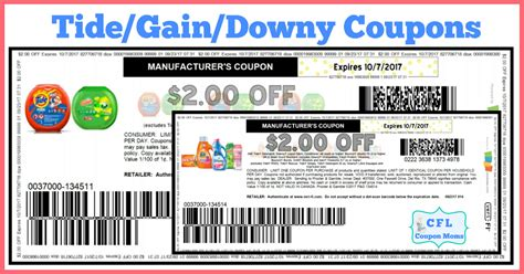 Printable Tide And Downy Coupons | hot coupons tide gain downy coupons cfl coupon moms