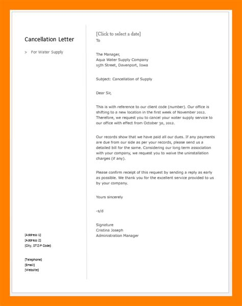 cancellation insurance letter exle cancellation debt letter 28 images 7 exle letter of