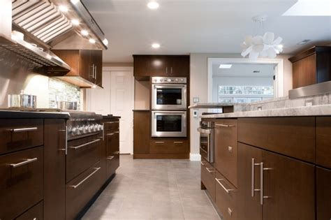 Brown Cabinet Kitchen Chocolate Brown Cabinets Contemporary Kitchen Aidan