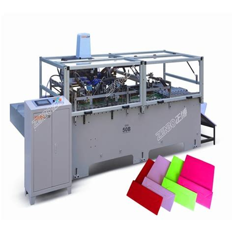 Paper Bag Folding Machine - paper bag folding gluing machine by wenzhou zenbo