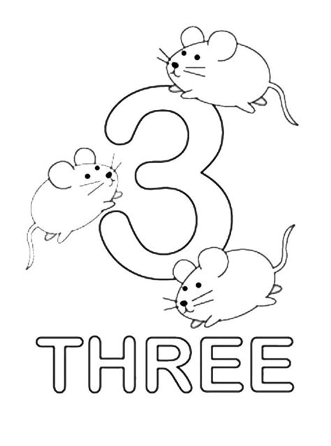 coloring page of the number 3 number 3 coloring page coloring home
