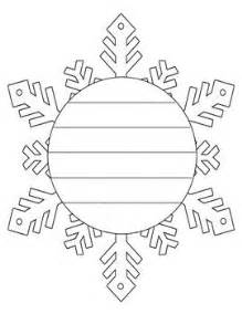 Snowflake Writing Template by Snowflake And Snowman Shape Book Writing Frame