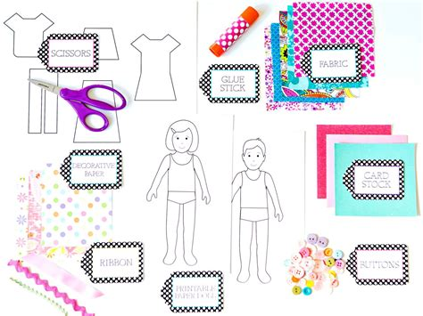 Make Paper Doll - how to make paper dolls with downloadable patterns how