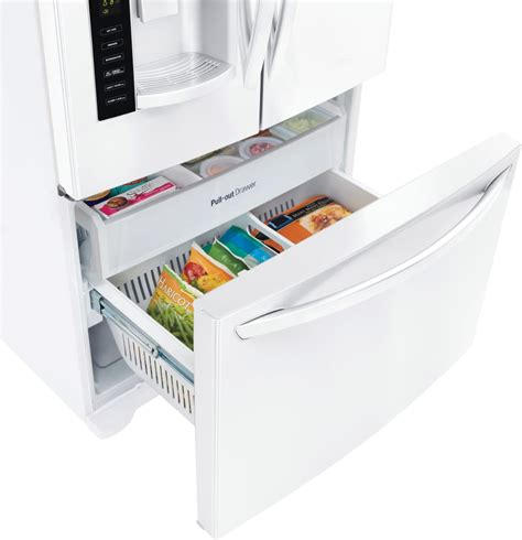 Water Crisper Drawers In Refrigerator by Lg Lfx25974sw 36 Inch Door Refrigerator With 24 7 Cu Ft Capacity Smart Cooling Slim