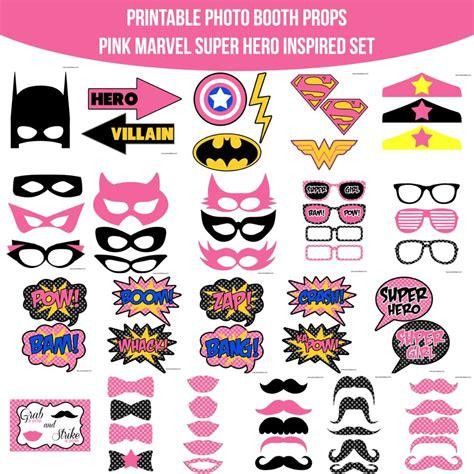 printable heroes download instant download pink marvel super girl hero inspired