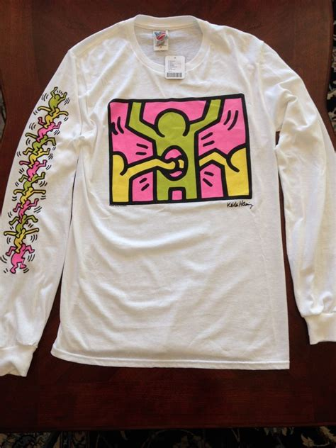 Kith White T Shirt keith haring sleeve holes white t shirts by junk food