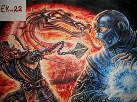 imagenes de scorpion vs sub zero dibujo scorpion vs sub zero comunidad dibujante taringa