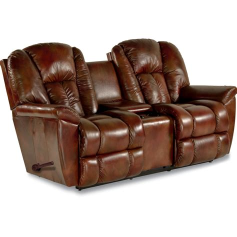 reclining loveseat with console maverick reclina way 174 reclining loveseat w console