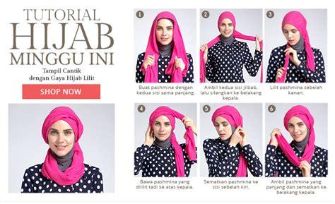 tutorial dandan untuk remaja foto tutorial hijab modern lebaran untuk remaja