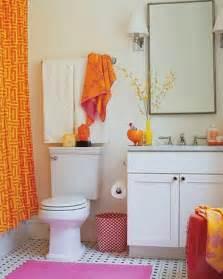 apartment bathroom decor ideas 18 ba 241 os decorados en naranja