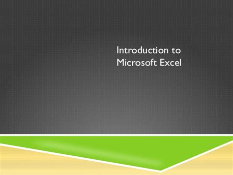 learning microsoft excel for beginners introduction to microsoft excel for beginners