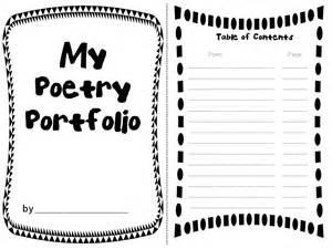 Rockin resources poetry portfolio with adorable templates