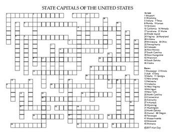 usa states crossword puzzle 100 us state capitals worksheet the us 50 states