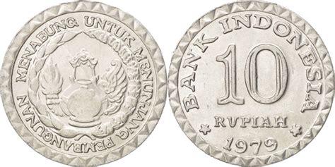 Money Coin Rp 10 Thn 1979 Indonesia indonesia 10 rupiah 1979 ms 60 62 aluminum km 44