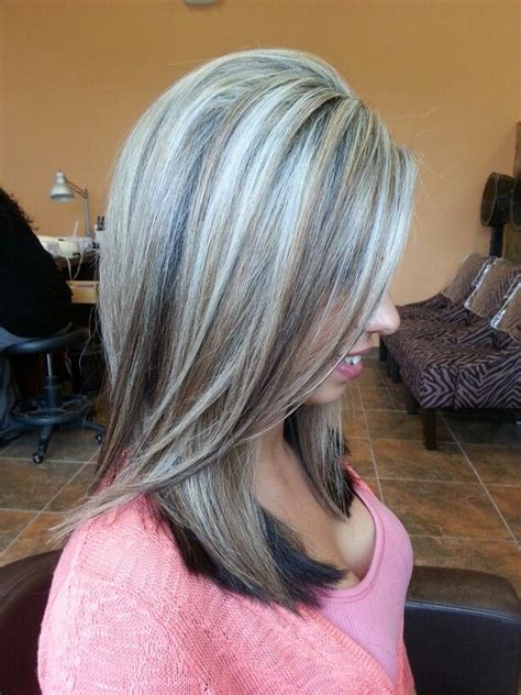 painting lowlights on gray hair 1000 images about hair on pinterest dark underneath
