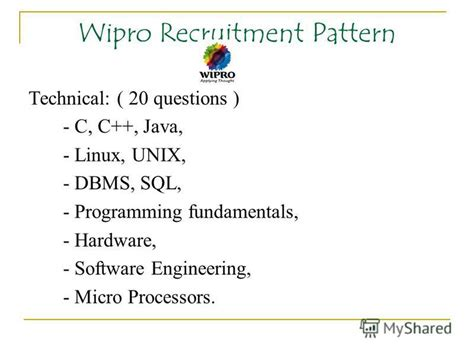 wipro pattern questions презентация на тему quot cus recruitment patterns ppt