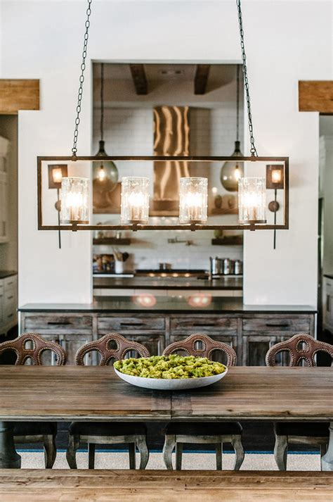 Linear Dining Room Lighting Farmhouse Interior Design Ideas Interior For