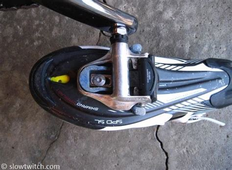 how to clip in bike shoes cleat replacement slowtwitch