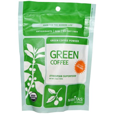 Green Coffee navitas naturals organic green coffee powder 4 oz 113 g