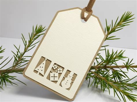 double layered christmas name place tags gift tags pack of