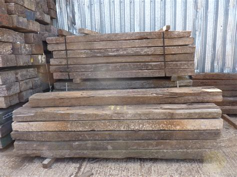Hardwood Timber Sleepers by Railway Sleepers Ashwell Timber
