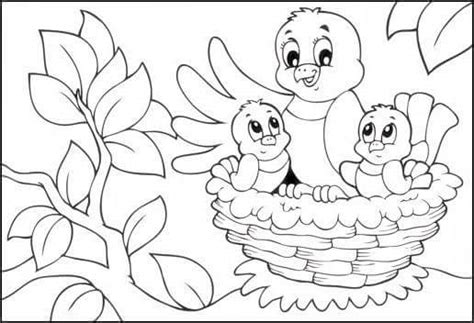 preschool coloring pages of birds bird nest coloring page 2 171 preschool and homeschool