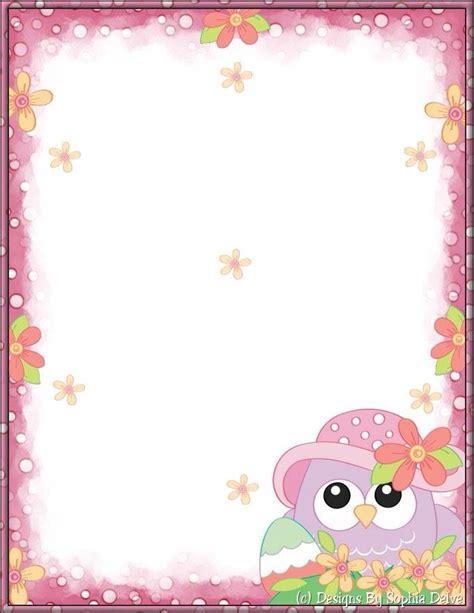 printable owl border paper pap 233 is de carta pinterest stationary writing paper