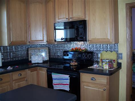 Faux Tin Kitchen Backsplash Farmgirl Paints Faux Tin Backsplash