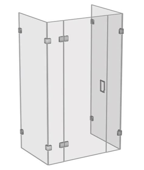 Three Shower Enclosure Shower Enclosures 3 Sided Shower Enclosures