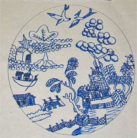 willow pattern drawing 1000 images about willow pattern craft on pinterest