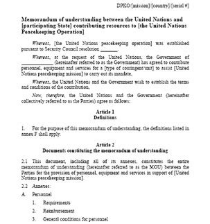Letter Of Agreement Undp Memorandum Of Understanding Sle Free Printable Documents