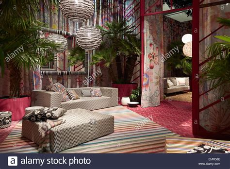 Milan Design Week Milan Italy April 14 Milan Design Week Missoni Home Stand At Stock Photo Royalty Free