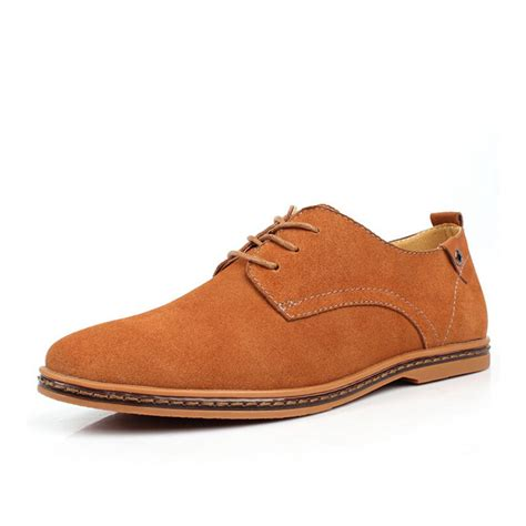 mens new faux suede lace up casual formal office work lace