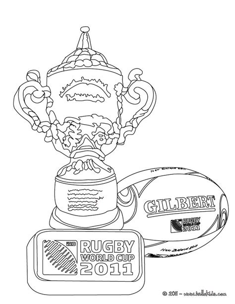 Rugby World Cup Trophee Coloring Pages Hellokids Com World Cup Coloring Pages