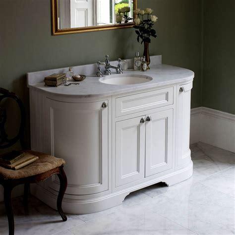 curved bathroom units burlington 134 curved vanity unit with double doors uk