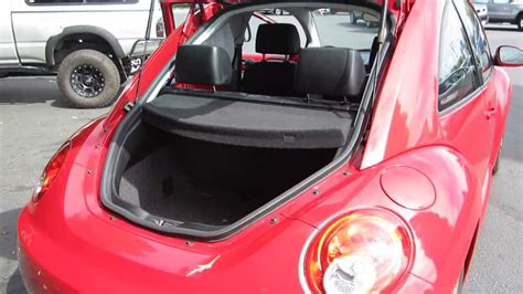 volkswagen beetle convertible trunk 2006 volkswagen beetle salsa red stock 131928a trunk