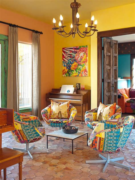 Colorful Chairs For Living Room Mediterranean Living Space Photos Hgtv