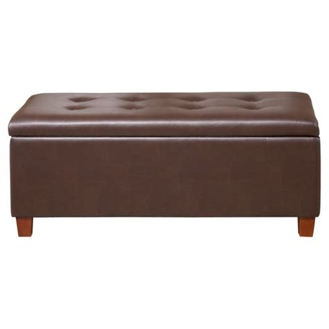 large ottoman storage bench storage ottoman homepop large faux leather storage bench