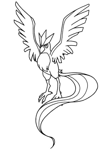 Legendary Pokemon Coloring Pages Articuno With Kyogre Articuno Coloring Pages