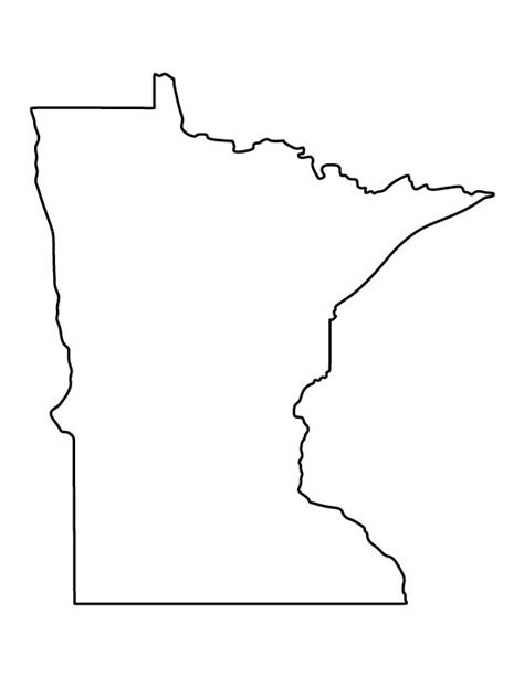 template of state minnesota pattern use the printable outline for crafts creating stencils scrapbooking and