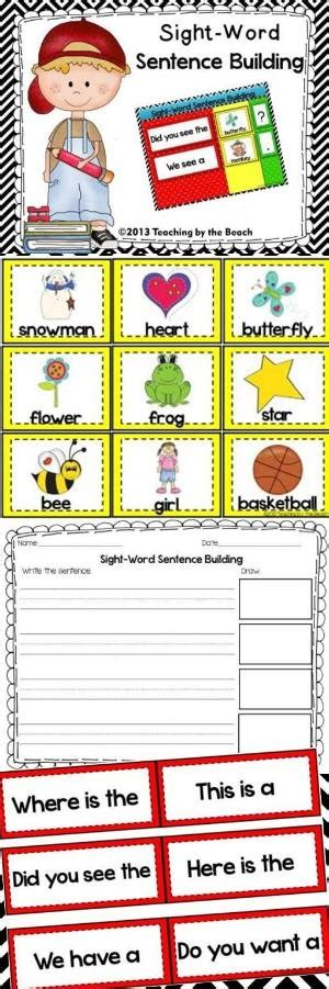 word cards for sentences free word cards for sentence building