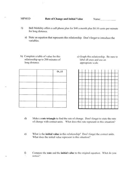 Average Rate Of Change Worksheet by Richmirempm1d Unit 6 Scatter Plots And Linear