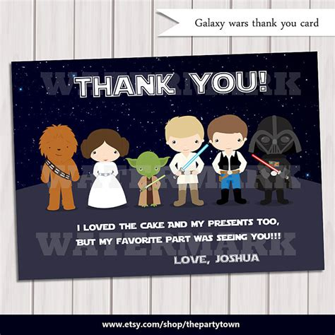 printable star wars thank you notes galaxy wars thank you card note card star wars thank you
