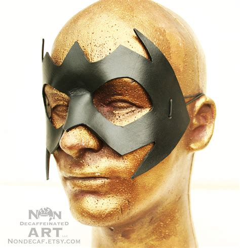 Handmade Masks - handmade leather mask in black by nondecaf on
