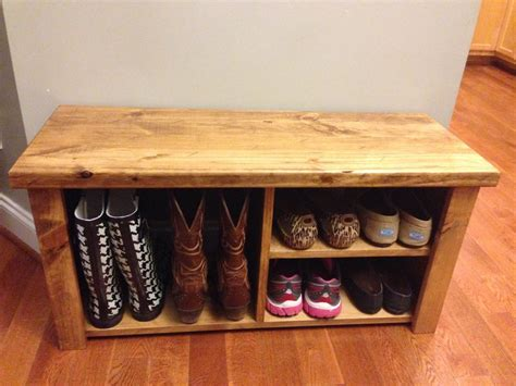 rustic shoe bench 36 rustic shoe boot bench by jrscustomwoodwork on etsy
