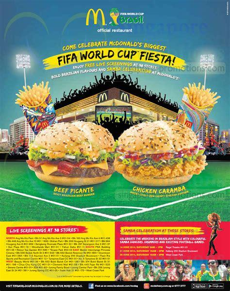 mcdonalds  fifa world cup screenings   stores