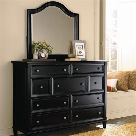 Black Dresser by Black And Cherry Antique Finish Dresser Bureau
