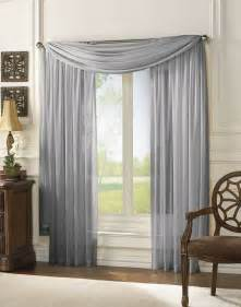 Sheer Grey Curtains Sheer Scarf Window Treatments Curtains Drape Valances 63 Quot 84 Quot 95 Quot Gray Ebay