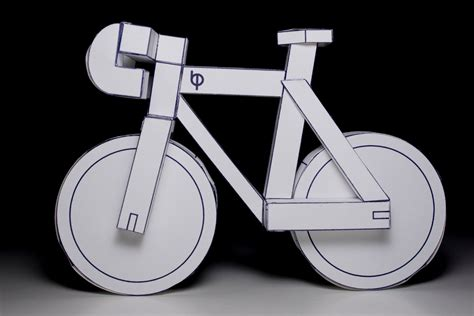 How To Make A Bike Out Of Paper - paperbikes v2 pdf fixed gear paper bike model kit