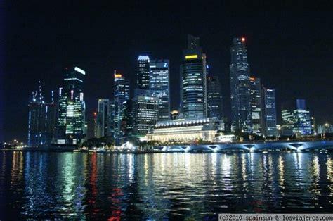 imagenes satelitales de singapur el distrito financiero de singapur de noche fotos de
